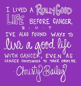 Christy Bailey quote purple