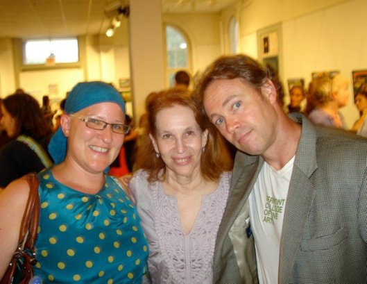 Christy at graduation with two of her MFA advisers, Sue William Silverman and Robert Vivian