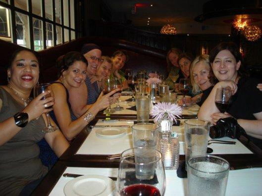 Christy's graduation celebration dinner